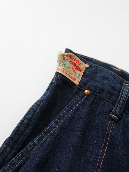 vintage 50s Kitty Carson side zip denim jeans, 25 x 29
