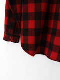 vintage 30s red plaid shirt coat