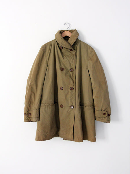 vintage US winter army coat