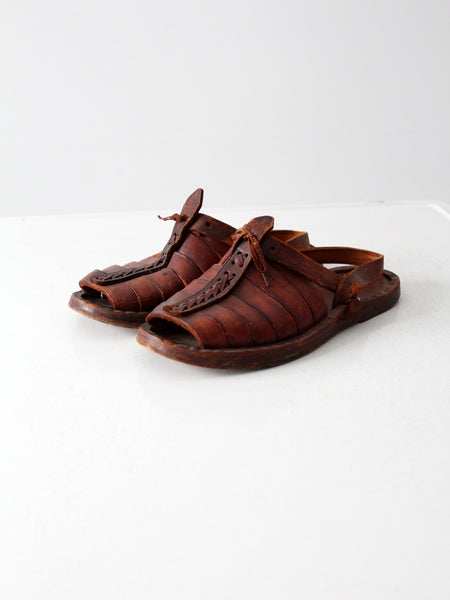 vintage 70s huaraches leather sandals