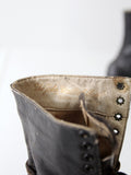 Victorian black leather boots