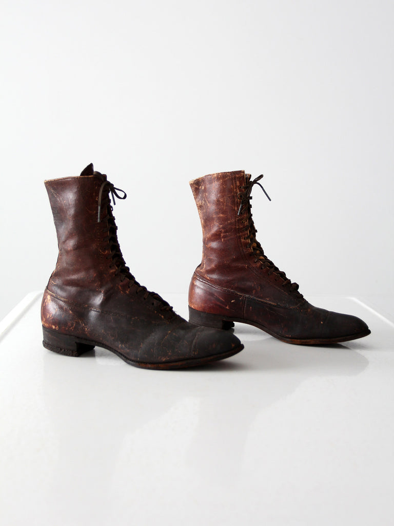antique Victorian leather boots