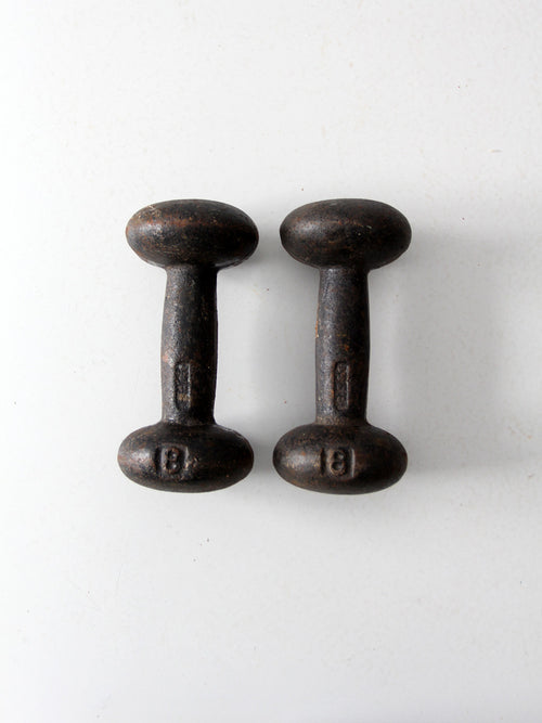 vintage 8 pound hand weights