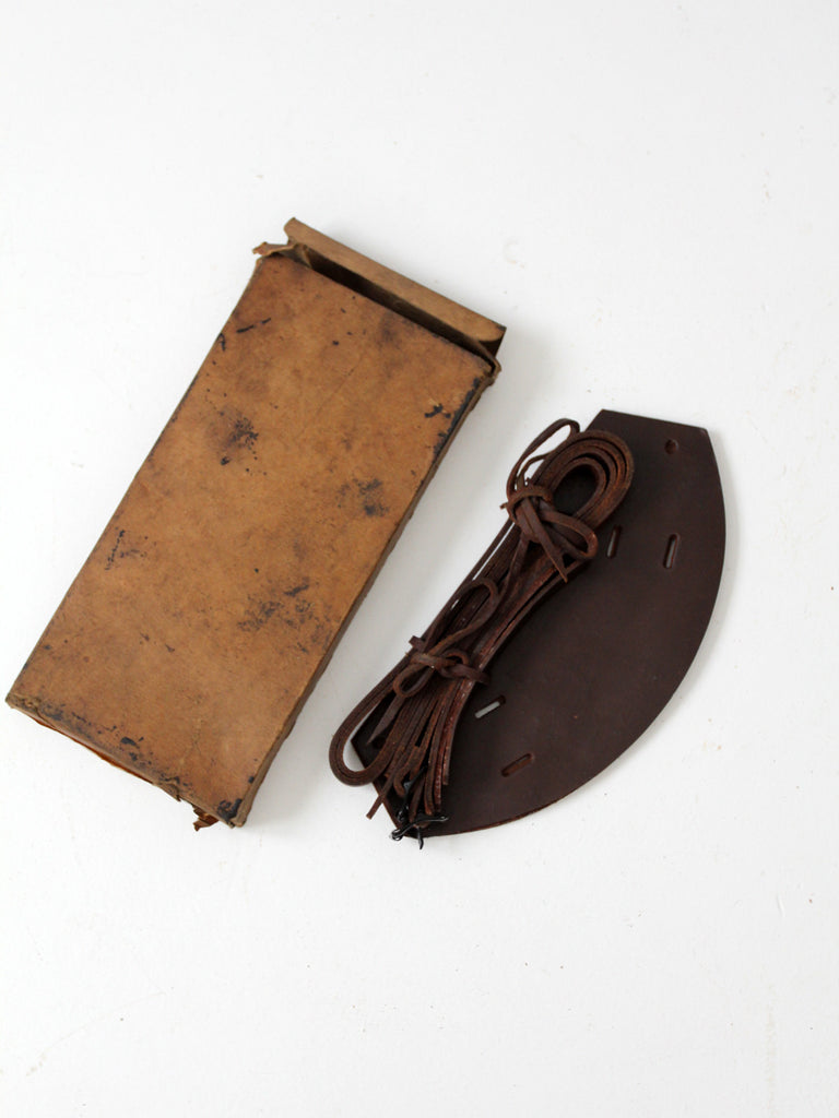 C.A. Lund snow shoe sandals with original box circa 1930