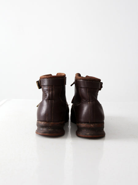 vintage leather ski boots, men's size 9.5