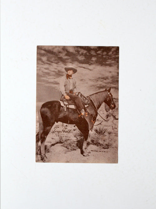 vintage Tim Holt promotional film print