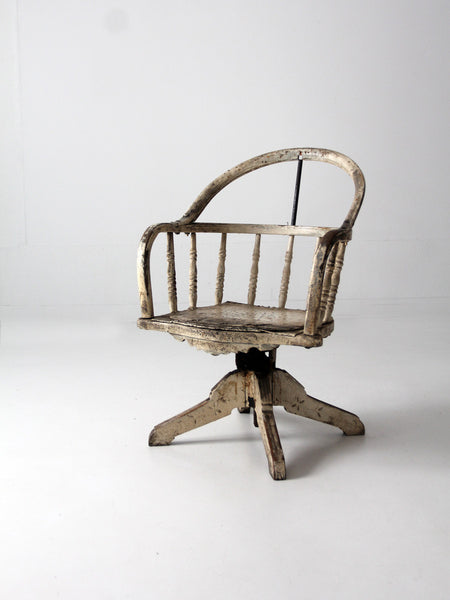 antique folk art chair with rush seat