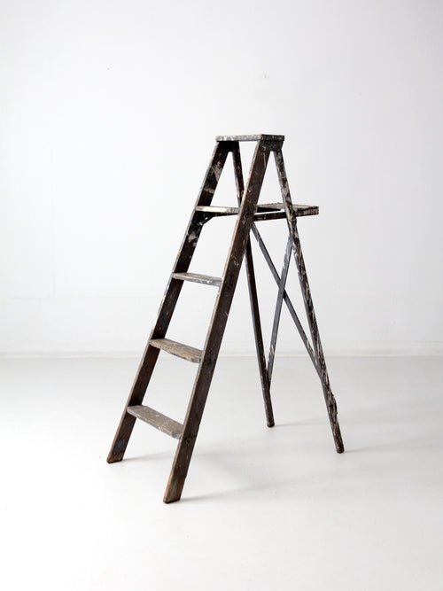 vintage wood painter's ladder