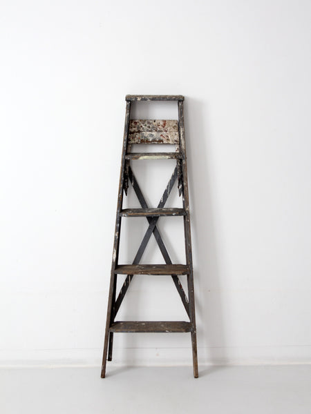 Vintage Wood Painter S Ladder 86 Vintage