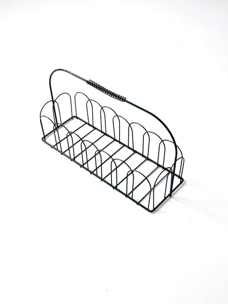 vintage metal wire basket trug