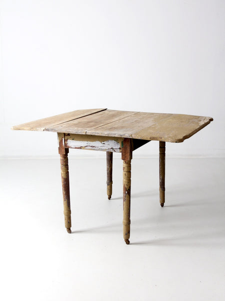 primitive drop leaf kitchen table