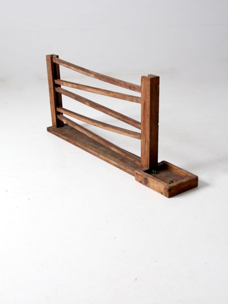 antique children's sock stretcher displays