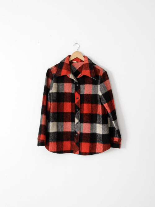 vintage 70s buffalo check shirt jacket