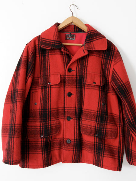 vintage Johnson Woolen Mills mackinaw jacket