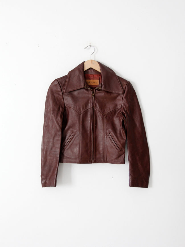 vintage 70s Walter Dyer leather jacket