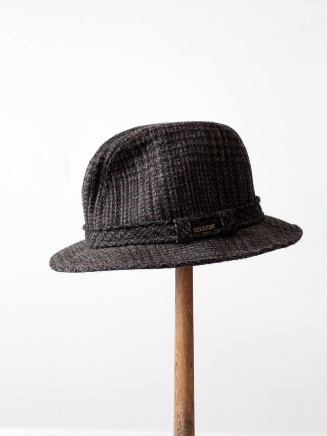 vintage Stetson plaid wool fedora