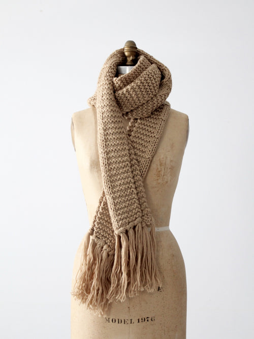 vintage extra long knit scarf