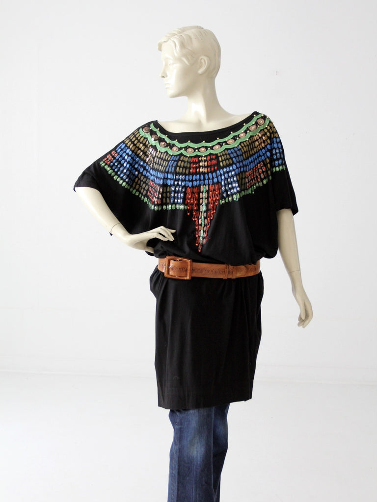 Luv Tricot tribal jersey dress circa 1980s