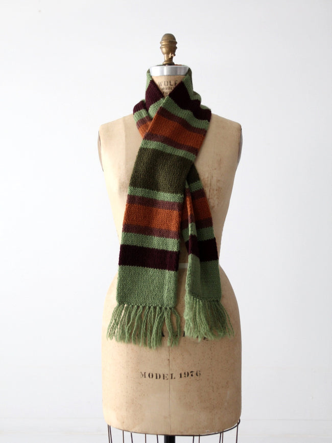 vintage striped knit scarf