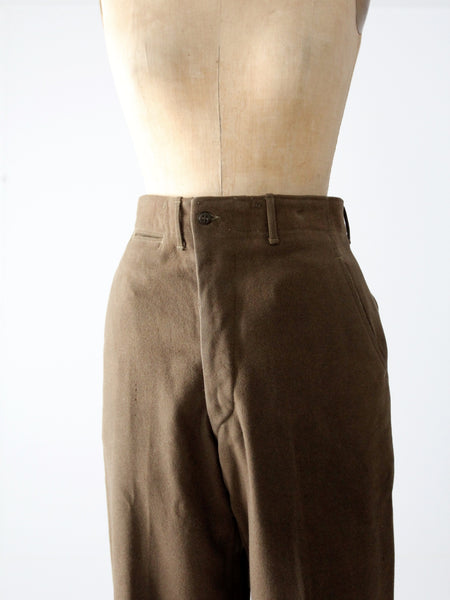 vintage US Army wool trousers