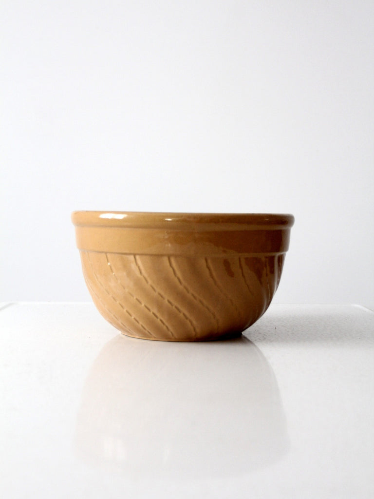 vintage yellow ware bowl, 11 inch