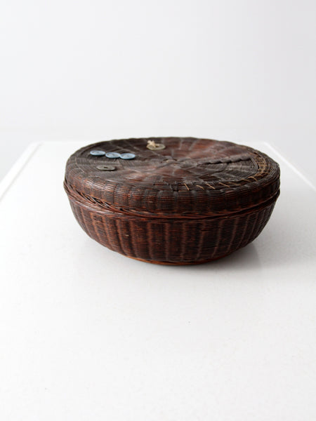 vintage Chinese sewing basket