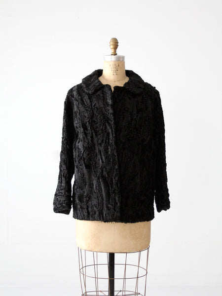 antique Persian lamb fur coat