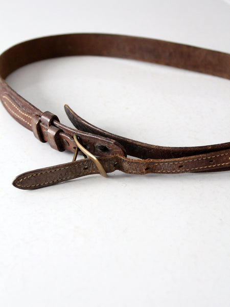 vintage western overlay leather belt