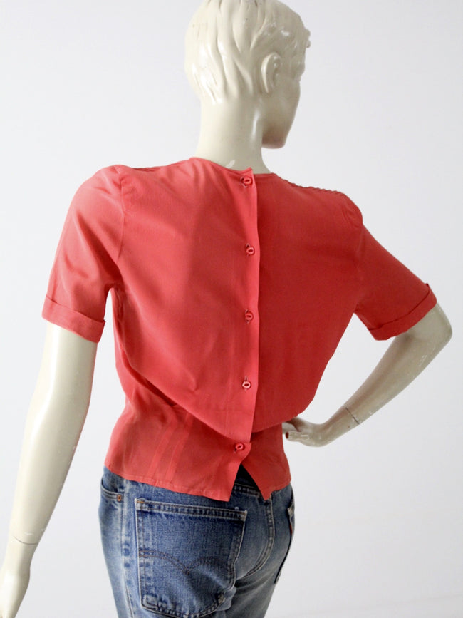 vintage 1940s blouse with button back