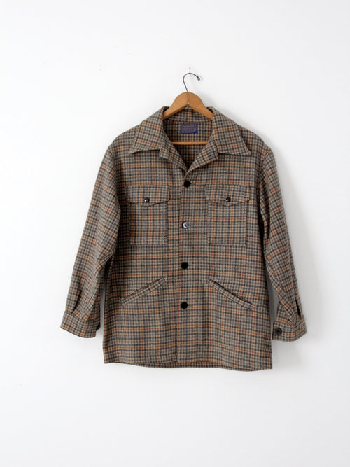 vintage 60s Pendleton plaid coat
