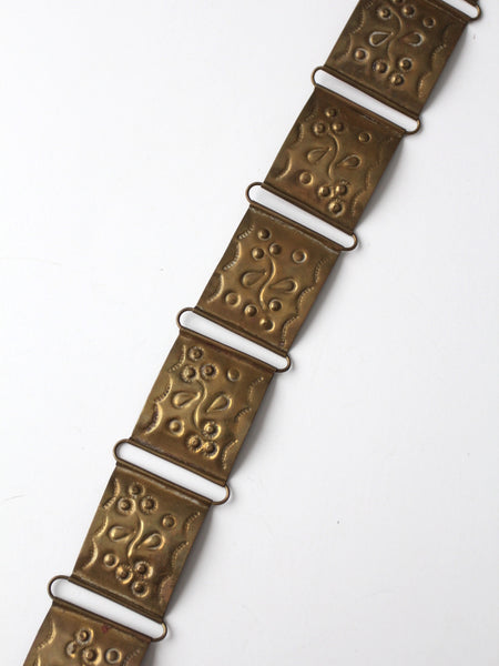 vintage 60s brass link belt