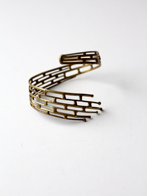 vintage 60s brutalist wrap around bracelet