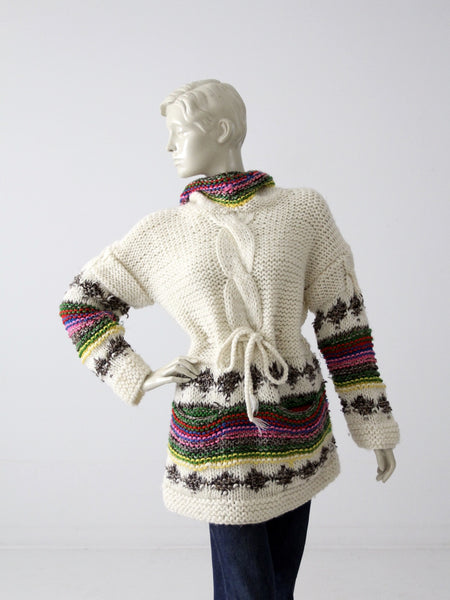 vintage fair isle ski sweater
