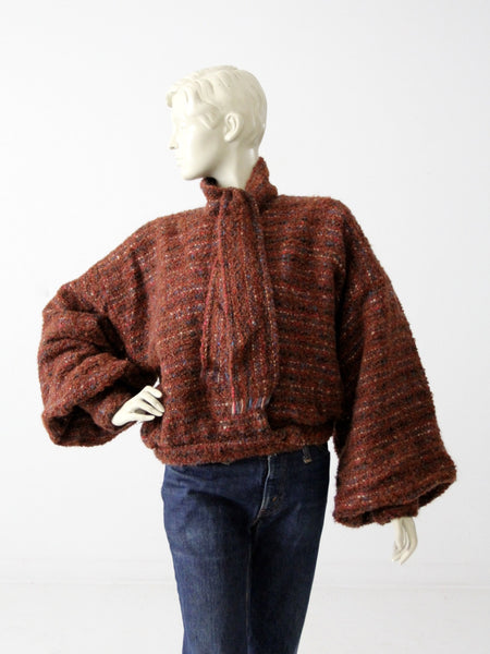 vintage thick wool camp sweater