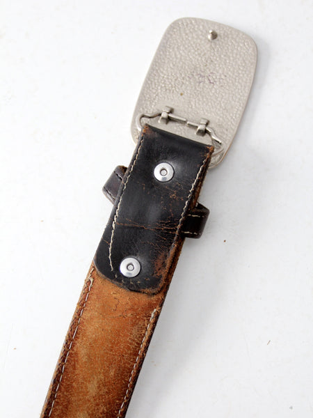vintage western belt with cowboy buckle