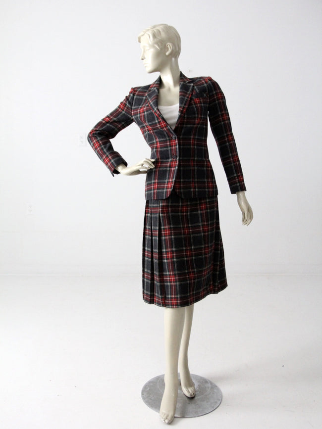 vintage 70s Young Pendleton wool skirt and blazer set