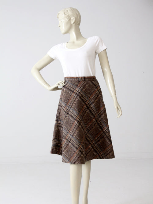 vintage 80s tweed skirt