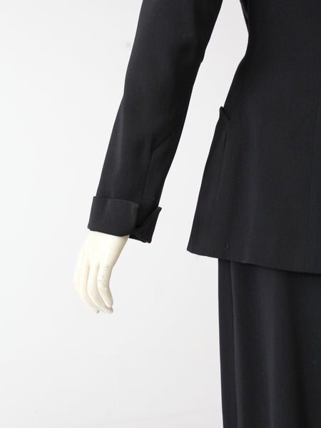 vintage 50s Gucci skirt suit