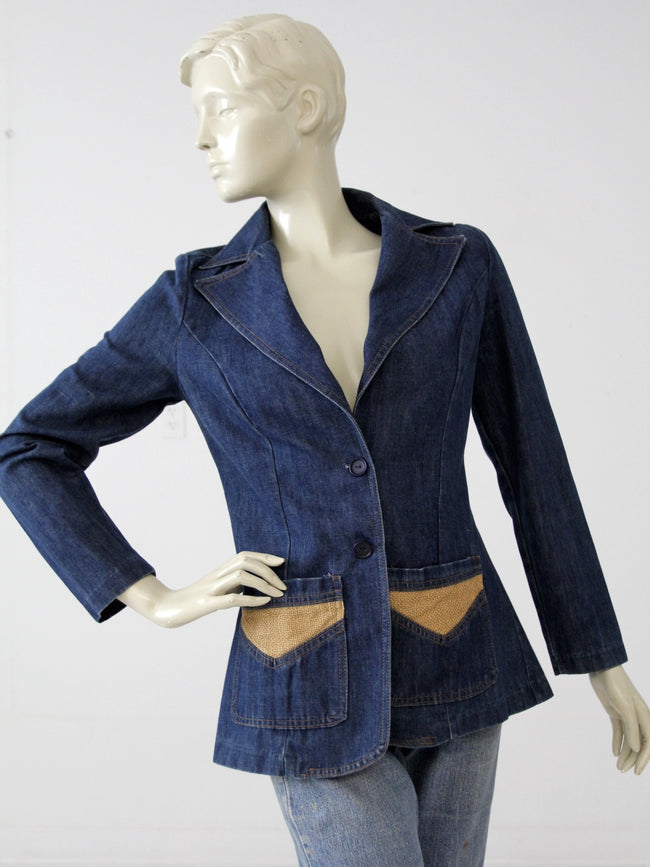 vintage 70s denim blazer by Gotcha Covered Up