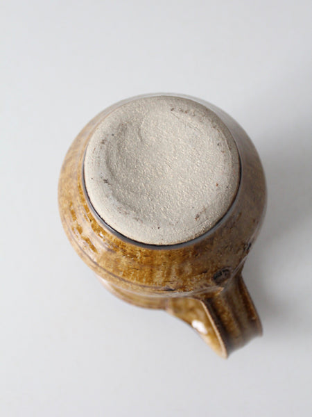 vintage 70s leather belt with ring detail