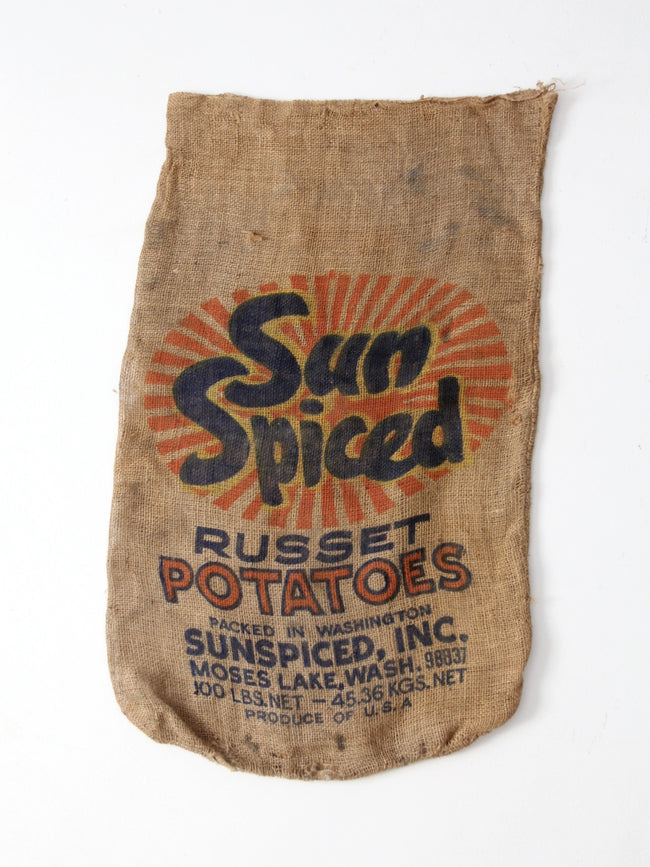 vintage Sun Spiced potato sack