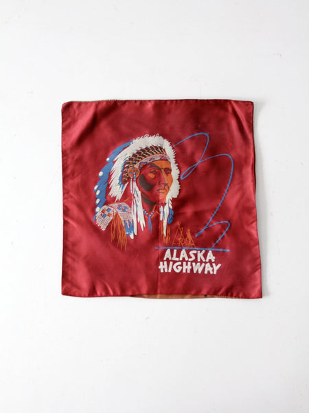 vintage Alaska Highway souvenir pillow