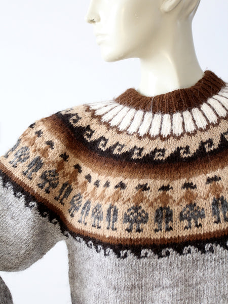 vintage alpaca sweater
