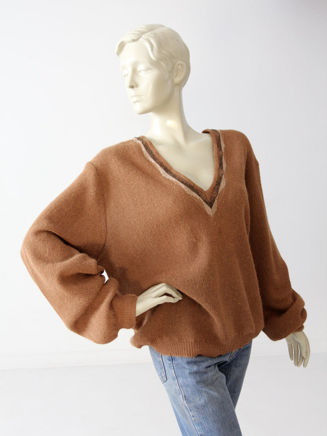 vintage 50s David Church alpaca sweater