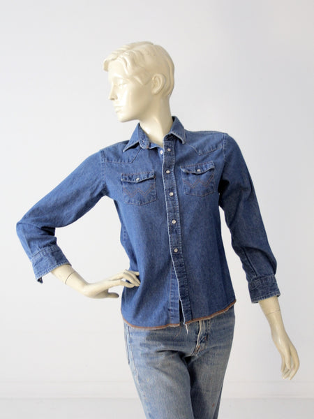 vintage 70s hippie denim shirt