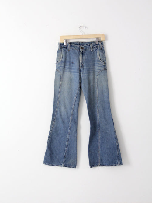 vintage 70s Levi's flare leg jeans with feather tab, 30 x 32
