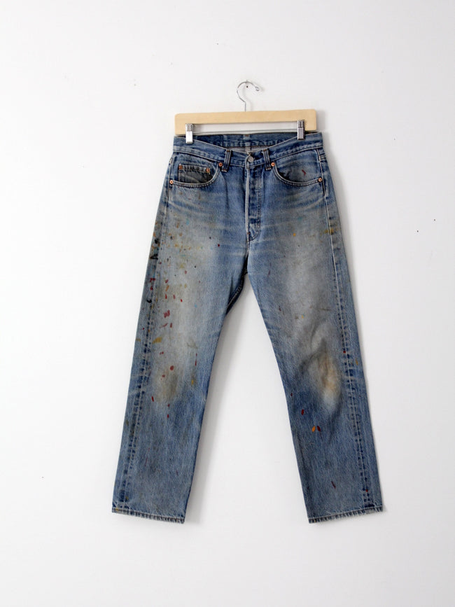 vintage Levi's 501s painter's denim jeans, 31 x 29