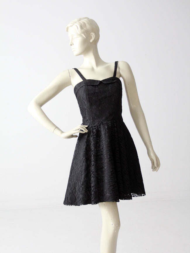 vintage 80s little black dress