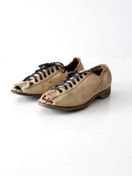 vintage Hyde bowling shoes with custom open toes