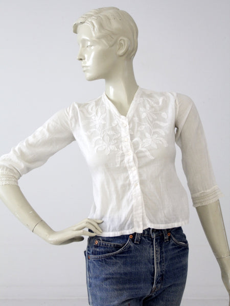 Edwardian open blouse
